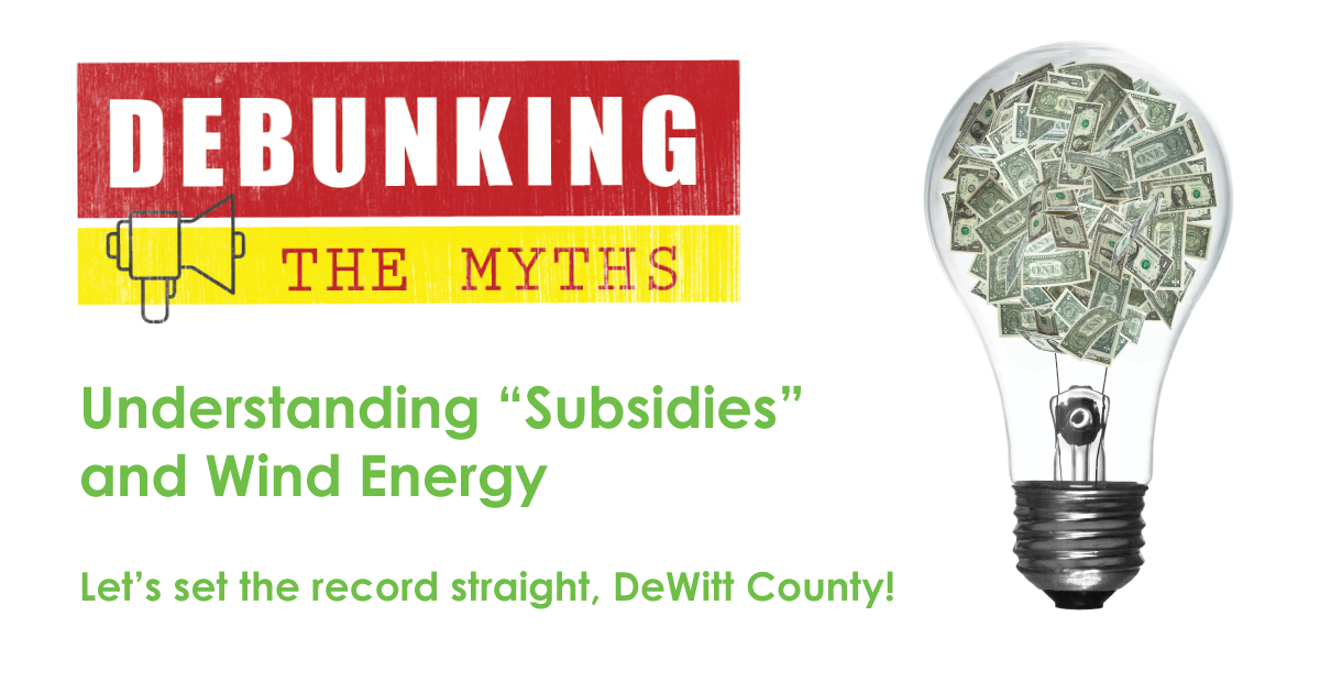 "Understanding ""Subsidies"" & Wind Energy"